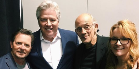 """Back to the Future's Christopher Lloyd shares """"special"""" reunion photo"""