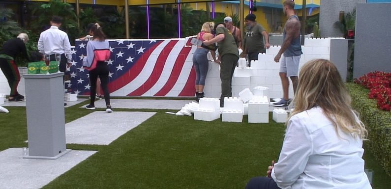 Celebrity Big Brother controversially parodies the US border situation as housemates are asked to build a wall