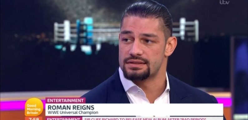 WWE star Roman Reigns reacts to beating Brock Lesnar to become WWE Universal Champion