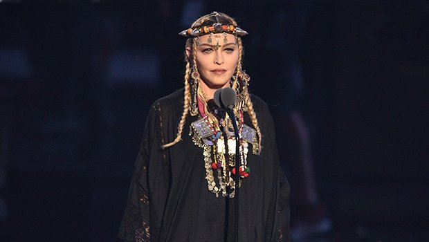 Madonna Stuns With Surprise Appearance At MTV VMAs, Wearing Black For Touching Tribute