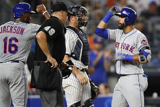 Mets use Yankees-esque power show to get Jacob deGrom win