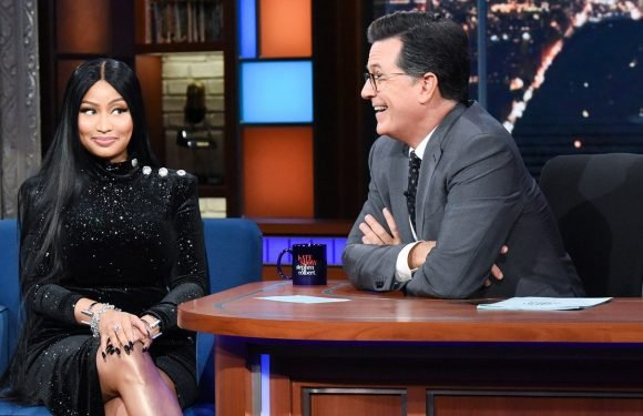 Watch Stephen Colbert's Reaction as Nicki Minaj Raps About Them Having Sex