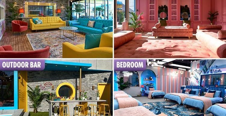 First look inside Celebrity Big Brother's new Love Island style house with tropical decor, pool, hot tub and funky bar