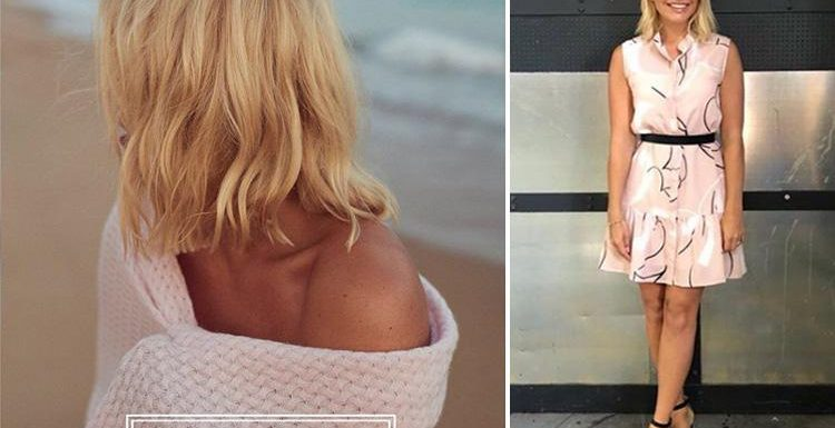 Holly Willoughby shares sexy off-the-shoulder snap draped in a blanket to tease the launch her lifestyle brand