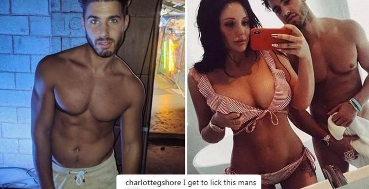 Charlotte Crosby posts VERY graphic caption on photo of topless boyfriend Joshua Ritchie in his pants after THAT picture of his massive bulge