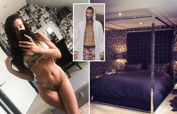 Inside CBB star Jermaine Pennant's incredible mansion with huge four poster bed, ornate dining table and cute family pet