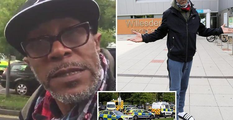 Danny John Jules' Strictly training ruined by a hostage situation and police standoff after flasher shuts down leisure centre