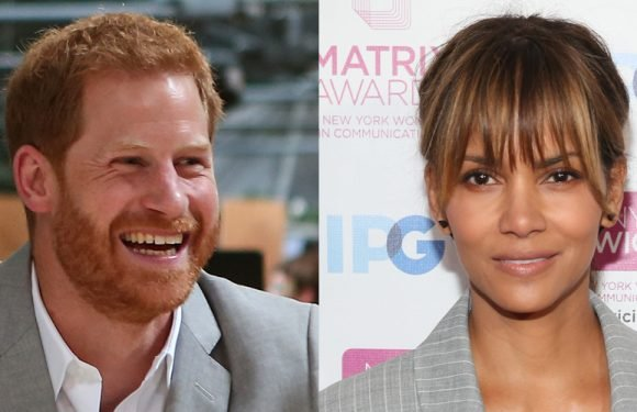 Halle Berry Reacts to Prince Harry's Poster of Her That He Had Hanging Up in His School Dorm Room