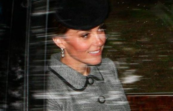 Kate Middleton Rides to Church With Queen Elizabeth II