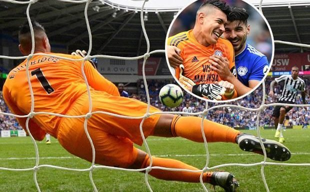 Fantasy Premier League's top goalkeeper Neil Etheridge leaves himself on the bench as the Cardiff star saves Newcastle penalty