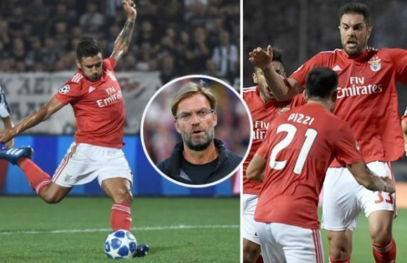 Champions League draw nightmare for Liverpool as Benfica win over PAOK leaves Jurgen Klopp's side in pot three