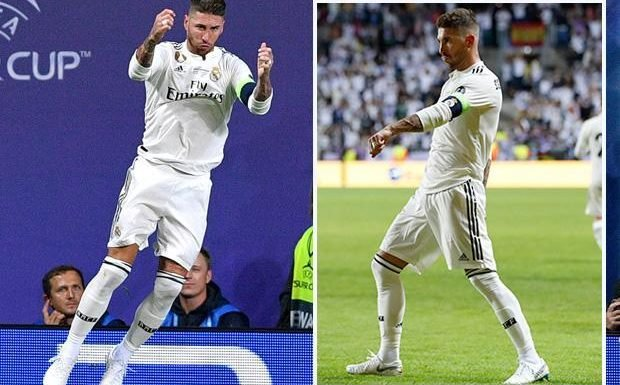 Real Madrid star Sergio Ramos does Cristiano Ronaldo's celebration and Conor McGregor's strut after scoring against Atletico Madrid
