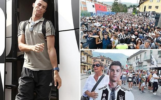 Cristiano Ronaldo arrives for Juventus debut… and supporters were going crazy