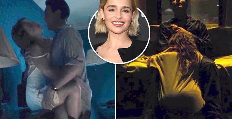 Emilia Clarke romps with Jack Huston in sexy scene from new film Above Suspicion