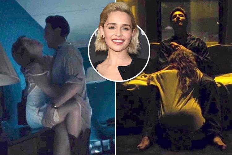 Emilia Clarke romps with Jack Huston in sexy scene from