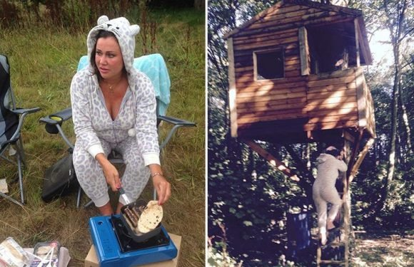 Lisa Appleton invites pals on a 'bender' in her tree house as she lashes out at trolls who mock her squalid living conditions