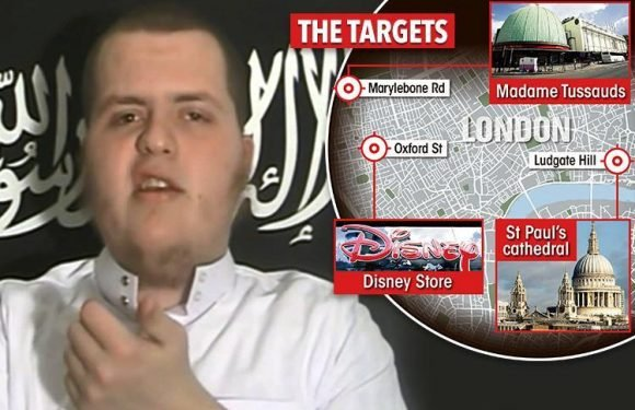 Chilling photos show Muslim convert scope out Oxford Street Disney store and Madame Tussauds for plot to mow down and kill 100 people in London terror attack