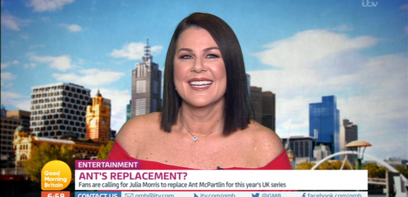 I'm A Celeb fans demand Australian presenter Julia Morris replace Ant McPartlin as she says 'I'd take the job in a heartbeat' after internet campaign goes viral