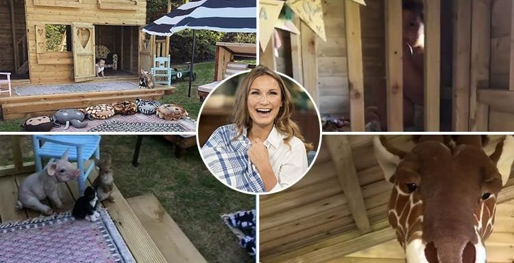 Inside Sam Faiers' incredible £1,450 two-storey summer house built for her children Paul and Rosie complete with luxury rugs and animal heads