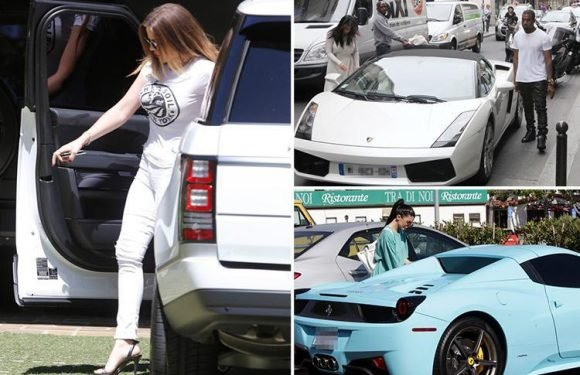 How the Kardashians coordinate their outfits with their cars