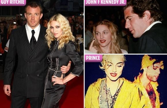 From Guy Ritchie to Tupac and Prince, we look back at Madonna's most significant hook-ups and husbands