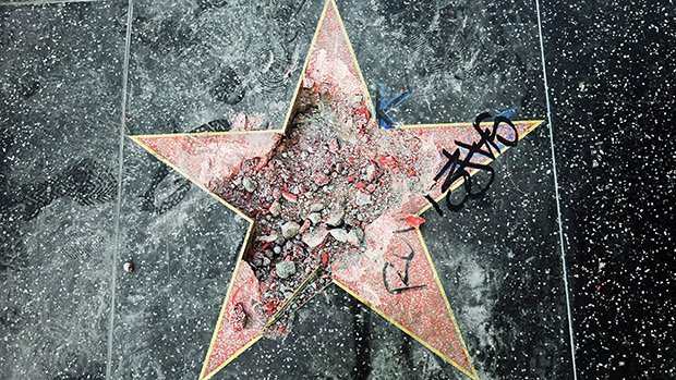 Donald Trump's Hollywood Walk Of Fame Star Voted Off Sidewalk & Twitter Goes Into Meltdown