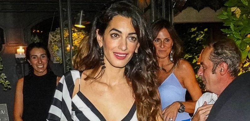 Amal Clooney Basically Had an Angelina Jolie Leg Moment in This Date-Night Ensemble