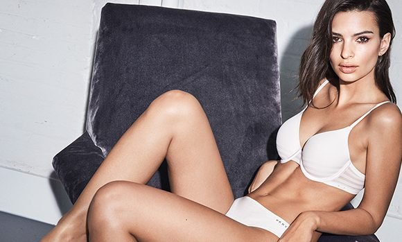 Emily Ratajkowski Flaunts Abs & Cleavage For DKNY — Hotter Than Kim Kardashian For CK?