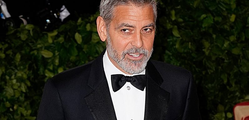 George Clooney hangs out with pals in Rome