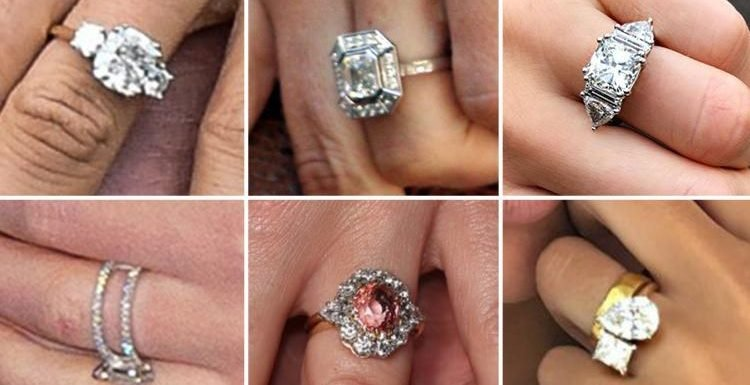Can YOU recognise which dazzling engagement ring belongs to which celeb? Take our quiz to find out