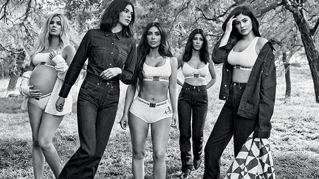 KarJenners Team Up For Another Calvin Klein Ad: See Khloe's Baby Bump & Kylie's Post-Baby Tummy