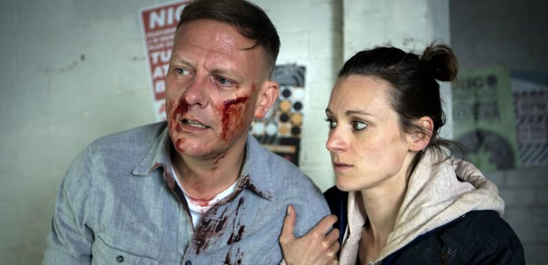 Coronation Street's Sean Tully is left bloodied and battered in a violent attack tonight