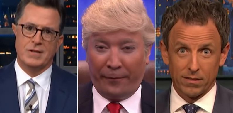 Stephen Colbert, Jimmy Fallon and Seth Meyers Are Baffled by Trump's 'Collusion Is Not a Crime' Defense