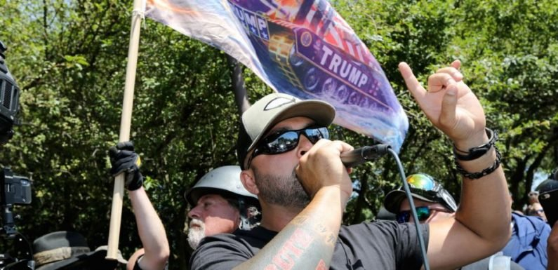 Police Bring Bomb-Sniffing Dogs To Portland Rally