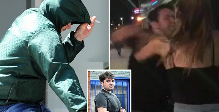 Yob who punched woman outside nightclub 'has never had a girlfriend' as he breaks cover to buy cigarettes