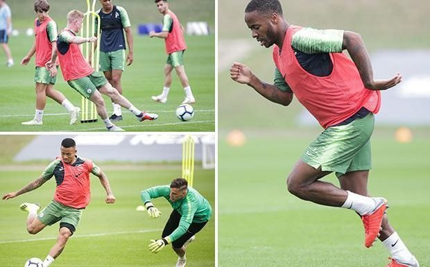 Manchester City stars Raheem Sterling and Kevin De Bruyne return to training after deserved World Cup break