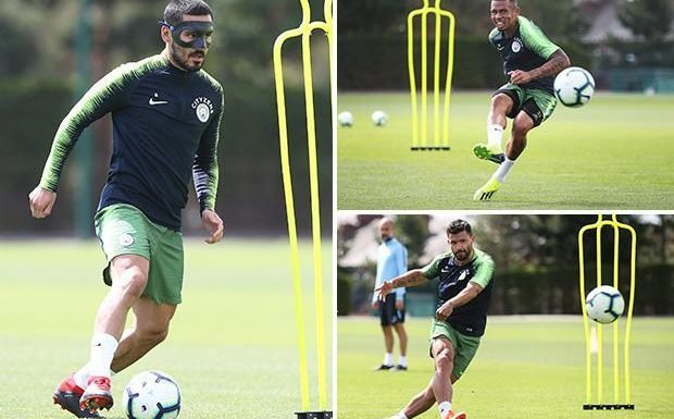 Sergio Aguero and Gabriel Jesus return to Man City training as stars begin to report back from World Cup