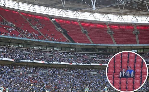 Chelsea vs Man City: Wembley looks a sorry sight with thousands of empty seats for Community Shield