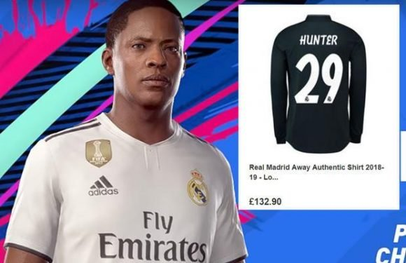 FIFA 19: Real Madrid are selling Alex Hunter shirts for £132