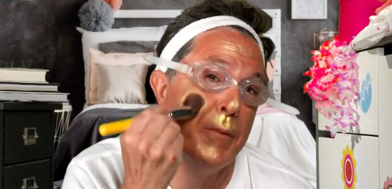 Daily LOL: Stephen Colbert Takes on Trump and YouTubers ina Bronzer Tutorial