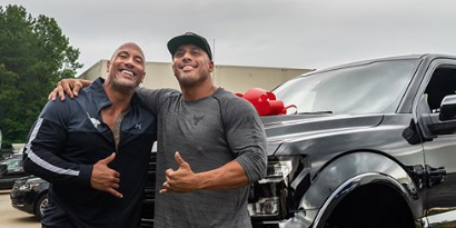 The Rock Just Surprised His Stunt Double With a New Truck