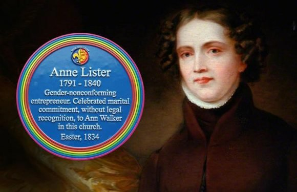 Blue plaque tribute to gay icon Anne Lister sparks fury as snowflakes BAN 'lesbian' — and it may be moved