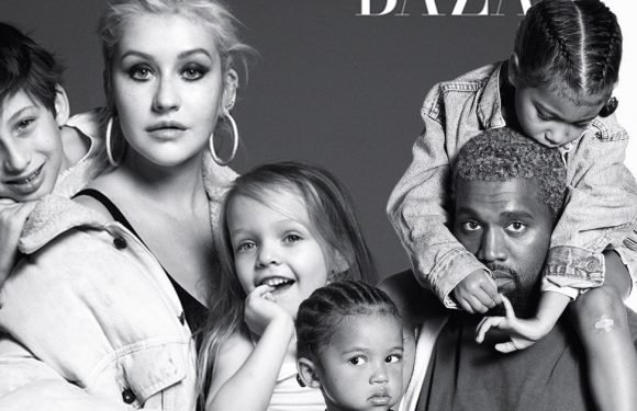 Kanye West, Christina Aguilera, Mariah Carey Pose with Their Kids and Talk Parenting for Harper's Bazaar