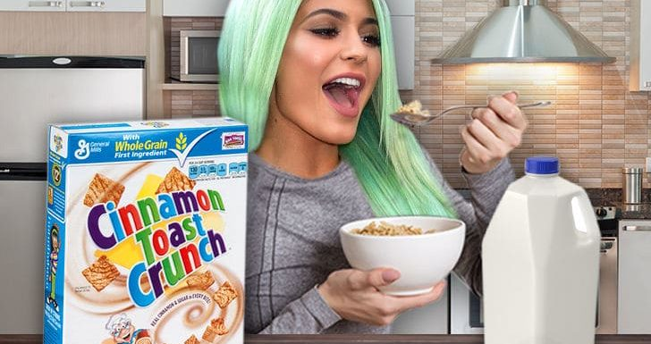 Kylie Jenner's World Rocked by Having Cereal with Milk for First Time