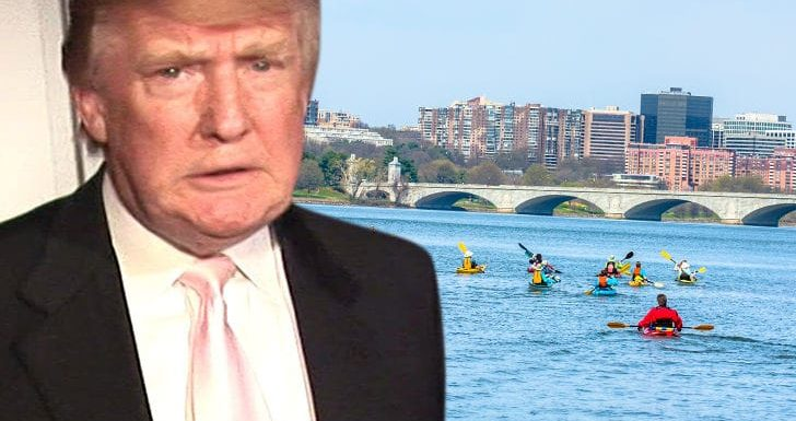 Trump Officials Sued by Canoers for Potomac River Ban When He Golfs
