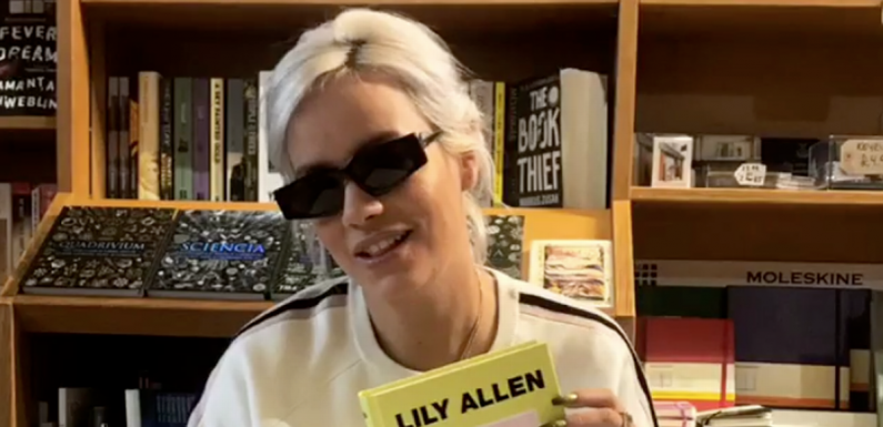 Lily Allen 'leaves book signing with hangover and refuses to remove sunglasses'