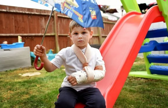 Boy, 4, breaks arm trying to 'float' with umbrella 'while copying Fortnite'