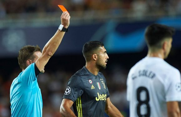 Cristiano Ronaldo sent off on Champions League debut for Juventus