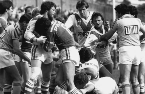 Match report of the brutal St George, Souths finals game in 1984