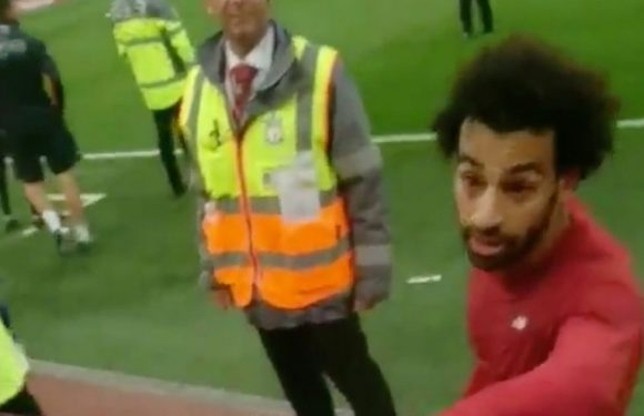 Salah's brilliant gesture after Liverpool match reduces father and son to tears